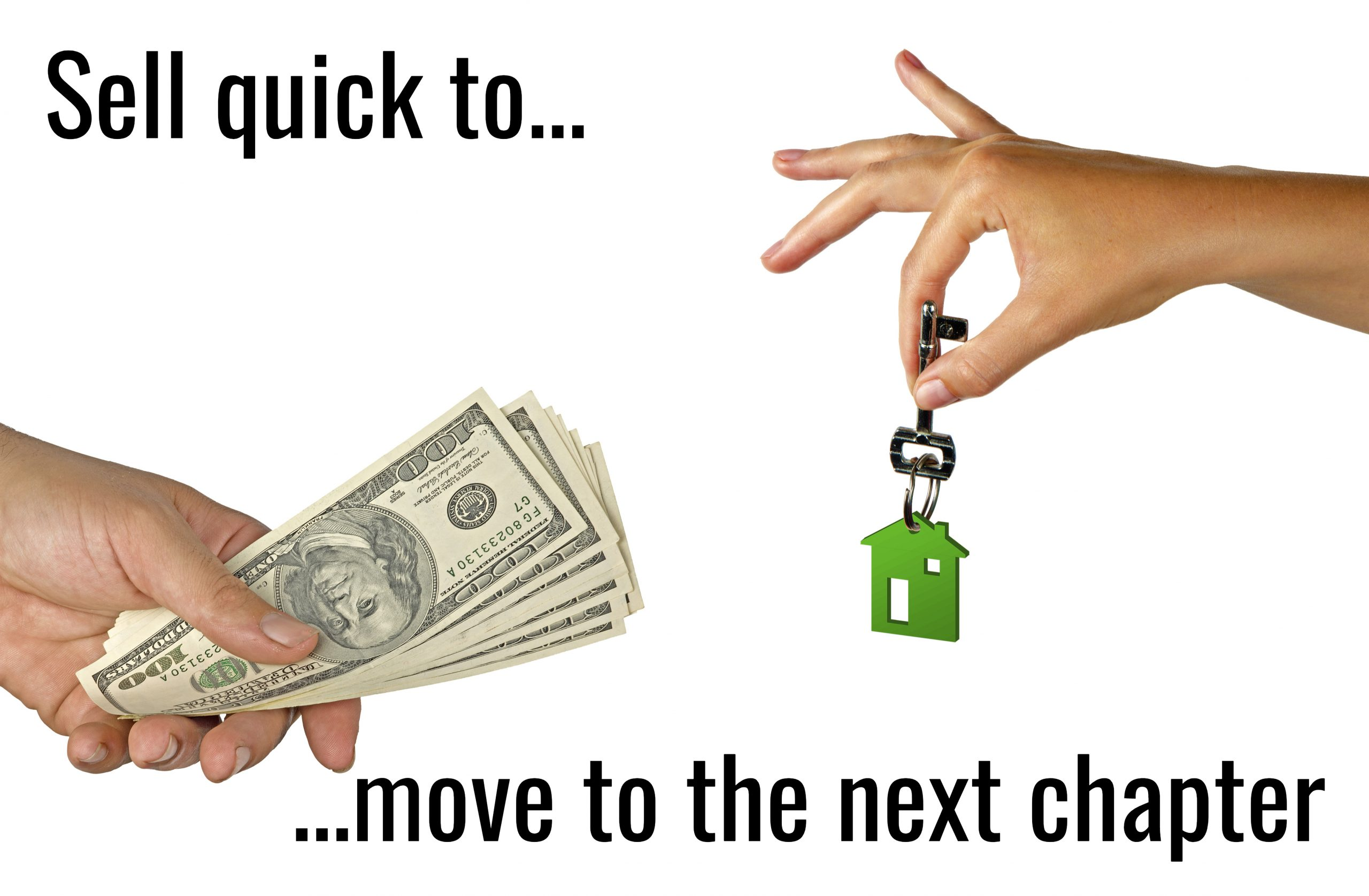 Exchange of money for selling of house